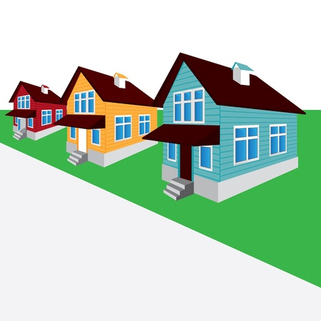 house, the street, the cottage Vector