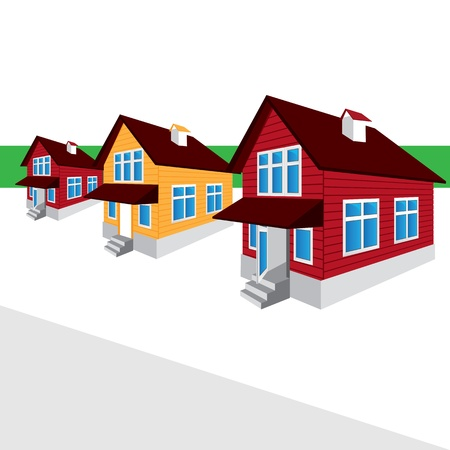 house, the street, the cottage Stock Vector - 16101097
