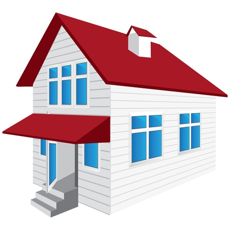 house drawing: vector house on a white background Illustration