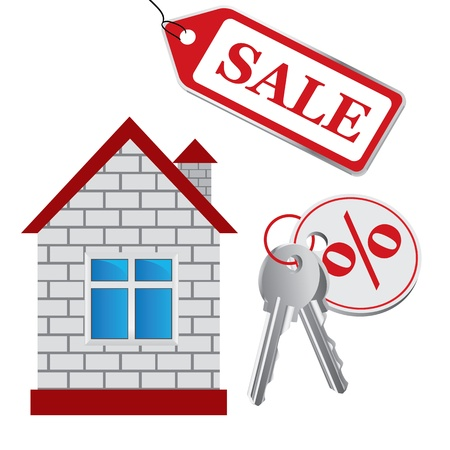 house, sale House Stock Vector - 16101092