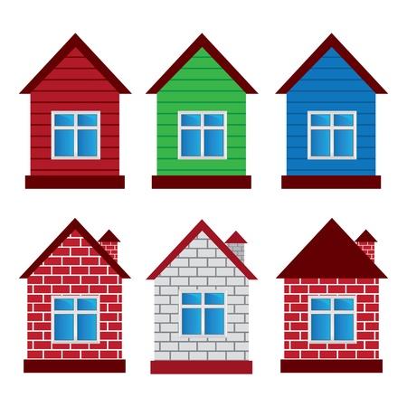 houses Stock Vector - 16101093