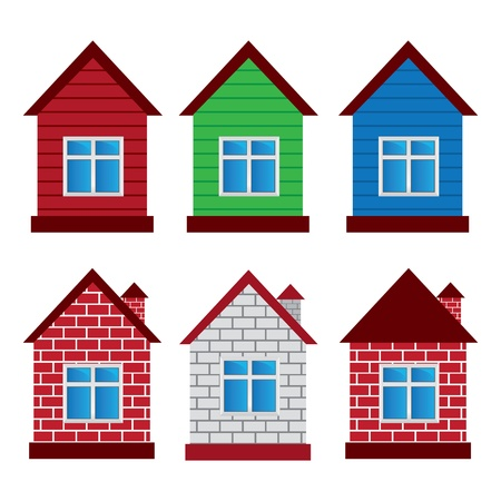 vacation home:  houses Illustration