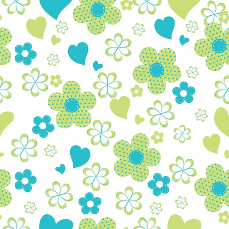 textile image: seamless pattern with flowers