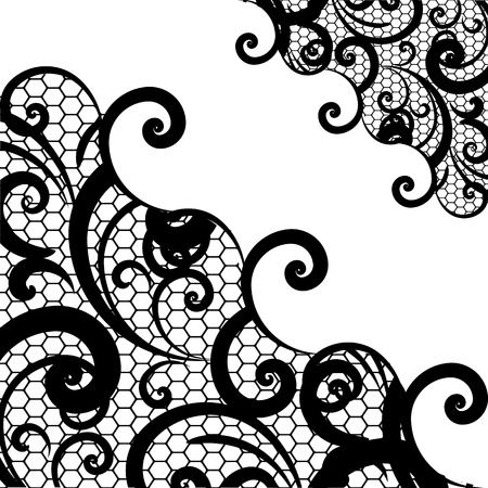 drawing on the fabric: vector lace background Illustration