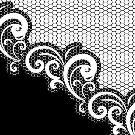 black lace: vector lace background Illustration