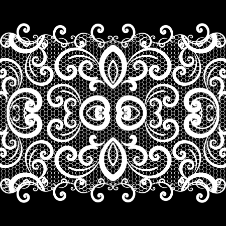 lace fabric: vector lace background Illustration