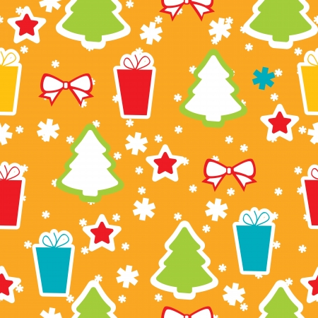 Seamless winter pattern, Christmas Vector