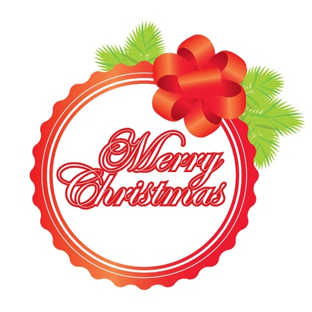 Merry Christmas  labels Stock Vector - 16641324
