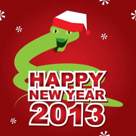 ophidian: New Year Card with a snake