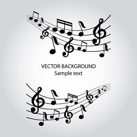 music dj: vector musical notes vector background