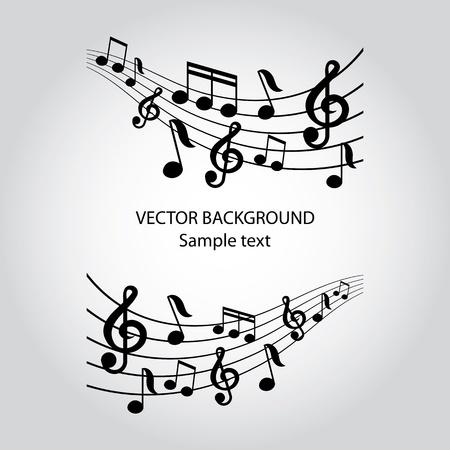musical notes: vector musical notes vector background