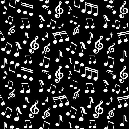 vector seamless pattern with music notes Vector