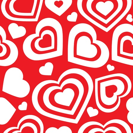 textile image: Vector seamless pattern of heart