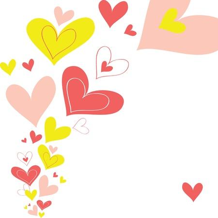 Vector background heart Stock Vector - 17019565