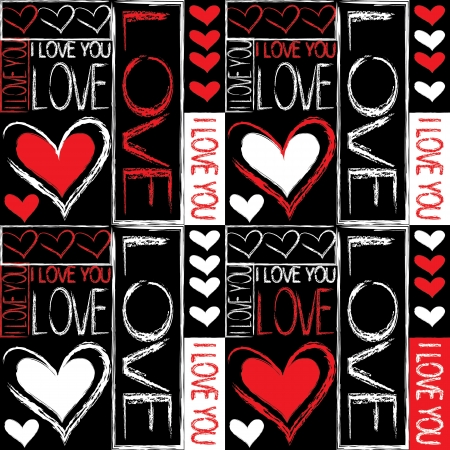 Seamless pattern of love Vector