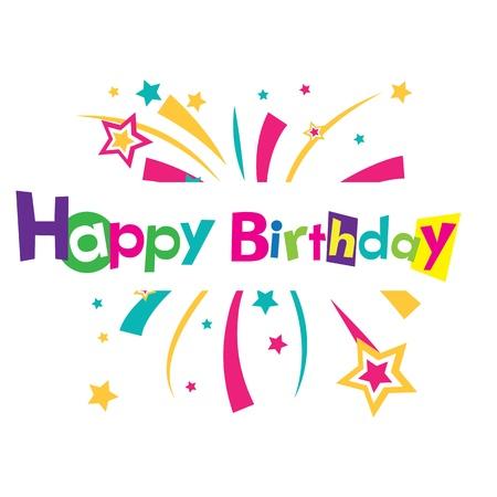 congratulations banner: Vector happy birthday
