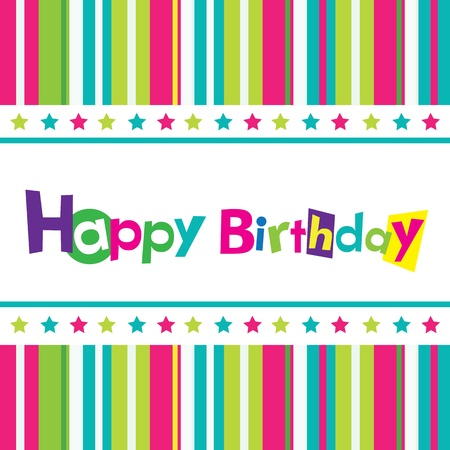 congratulations text: Vector happy birthday