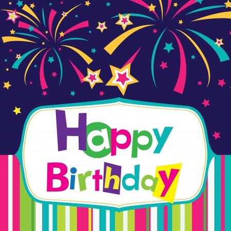 happy birthday cartoon: vector happy birthday card
