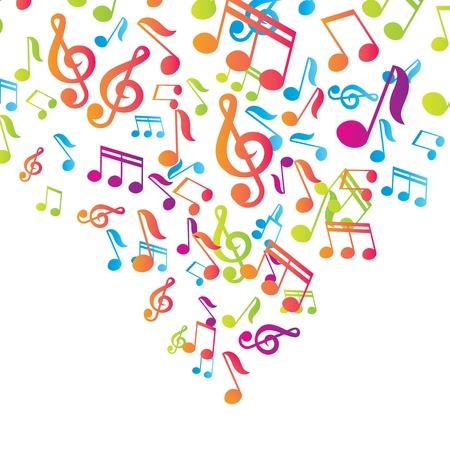 note musicali: vettore note musicali sfondo vettoriale Vettoriali