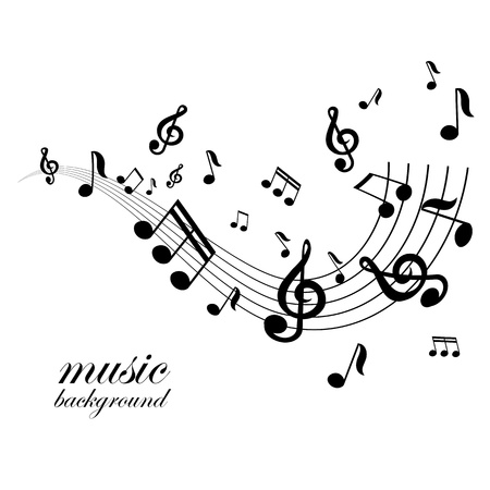 music note: vector musical notes vector background