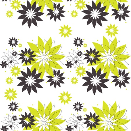 tissue texture: Seamless pattern with abstract flowers
