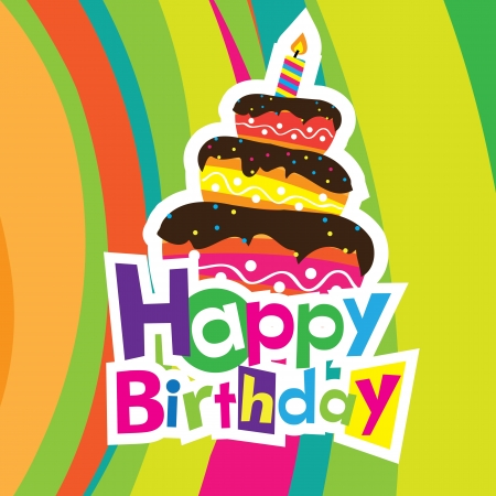 vector happy birthday card Vector