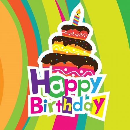 happy holidays text: vector happy birthday card