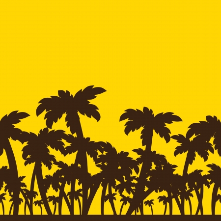 Silhouette of palm trees Stock Vector - 17513669