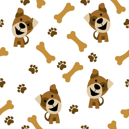 bones of the foot: vector seamless pattern dog
