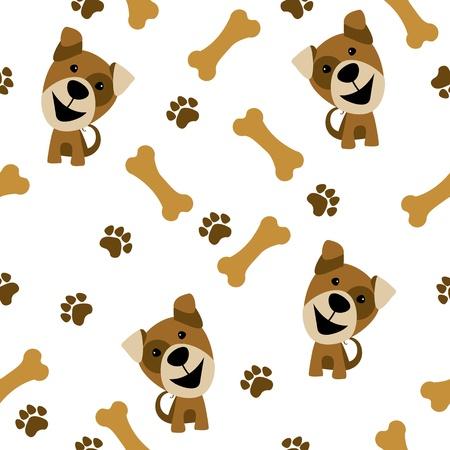 foot bones: vector seamless pattern dog