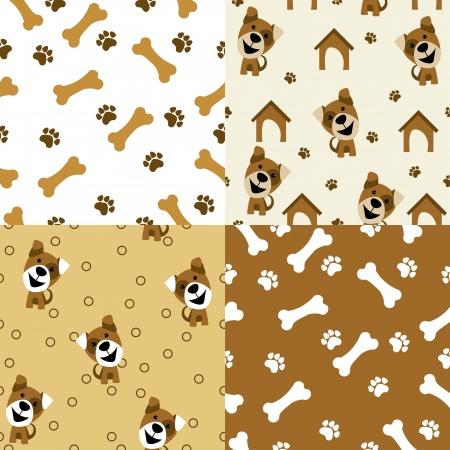 vector seamless pattern dog Vetores