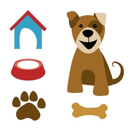dog food: vector dog
