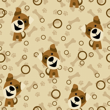 vector seamless pattern dog Vector