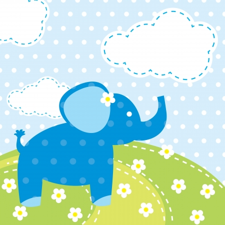 vector background with elephant Vector