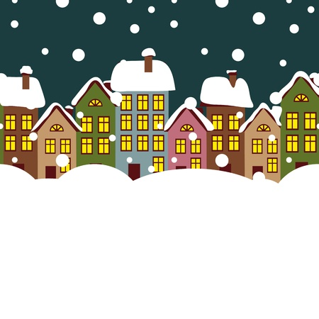 Vector winter city Stock Vector - 17780928