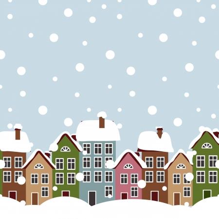 Vecteur hiver ville Banque d'images - 17780929
