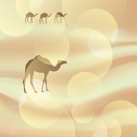 dune: camel in the desert Illustration
