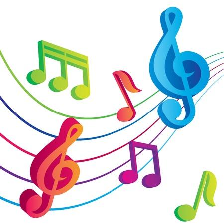 Vecteur vecteur de fond musical notes Banque d'images - 18104339