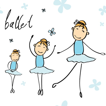 illustration of a girl dancing ballet Vector