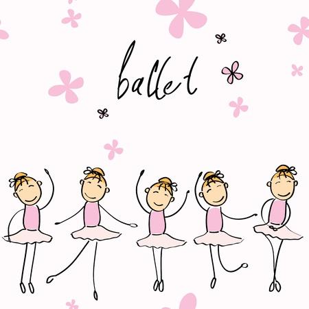 ballet clásico: ilustración de una chica que baila ballet