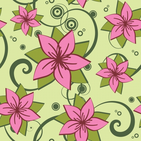 textile image: vector seamless pattern with flowers