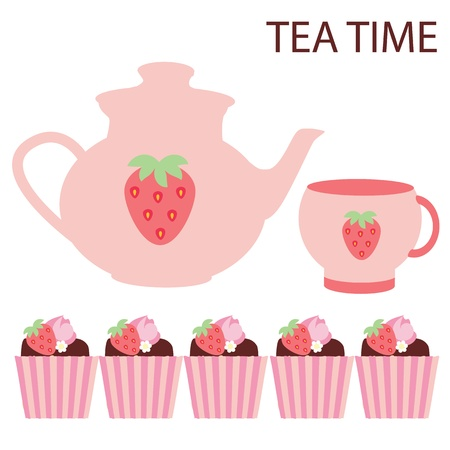 vector tea time Vector
