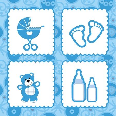 greeting card born babies Vector