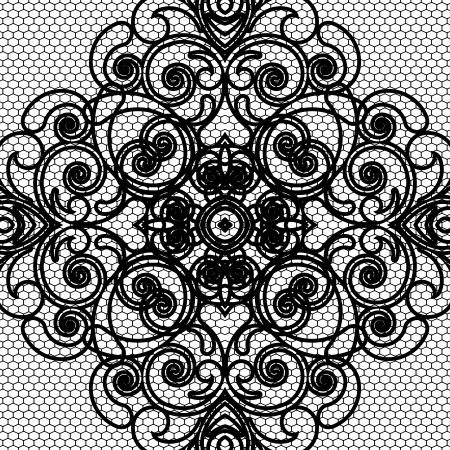 lace vector: vector seamless lace pattern Illustration