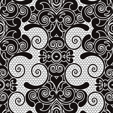 lace pattern: vector seamless lace pattern Illustration