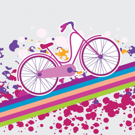 funny pictures: vector illustration of a bicycle Illustration