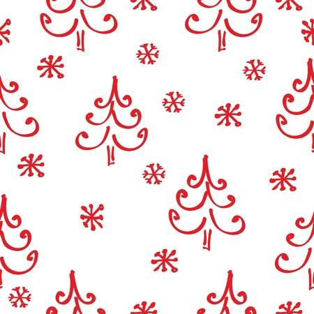 Christmas seamless pattern Illustration