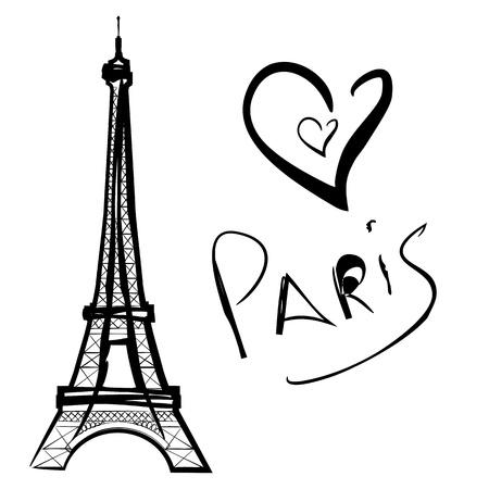vector illustration of Paris, the Eiffel Tower Vector