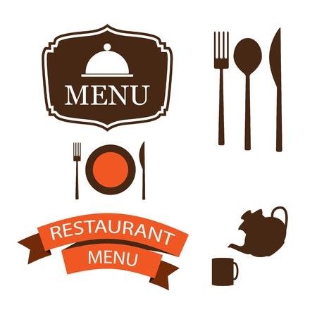menu items illustration Vector