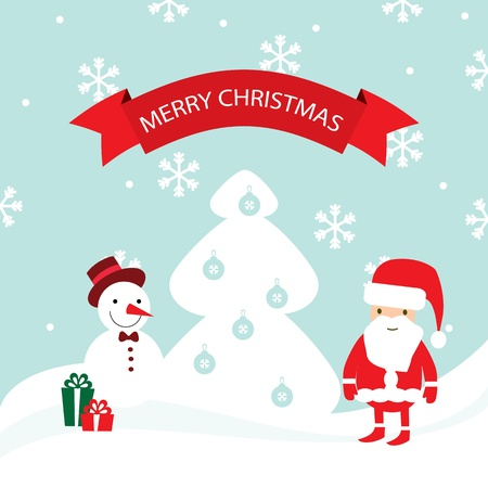 Merry Christmas card illustration Stock Vector - 19695669